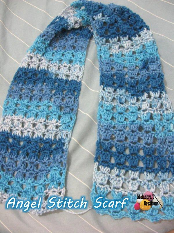 Angel Stitch Scarf Free Crochet Pattern Meladoras Creations