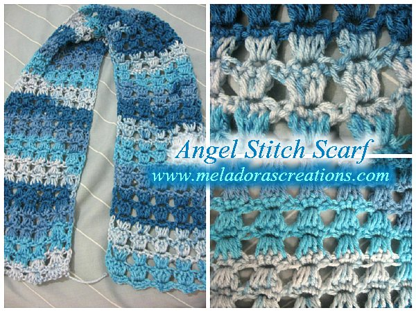 Angel Stitch Scarf Free Crochet Pattern Meladoras Creations
