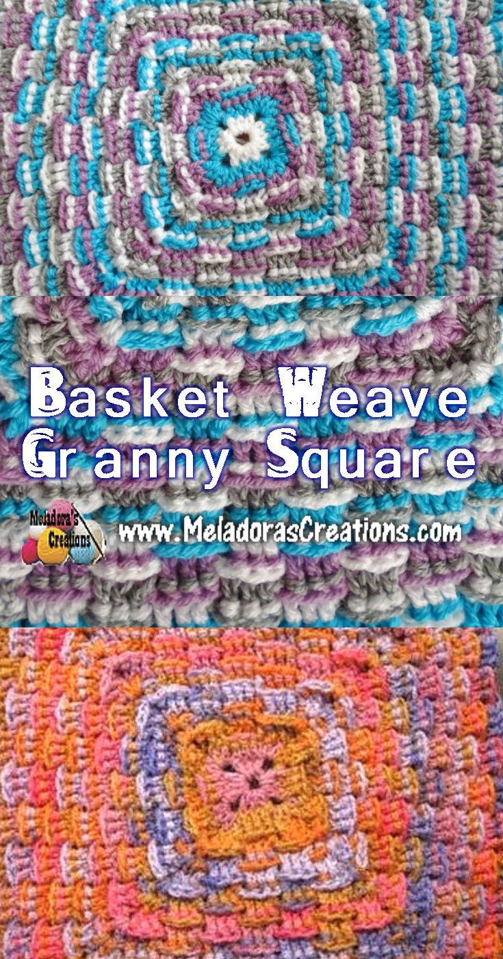 Basket Weave Granny Square Free Crochet Pattern
