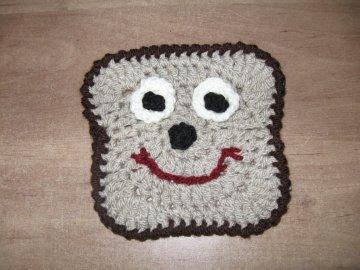 Crochet Bread Motif or Bread Applique - Free Crochet Pattern