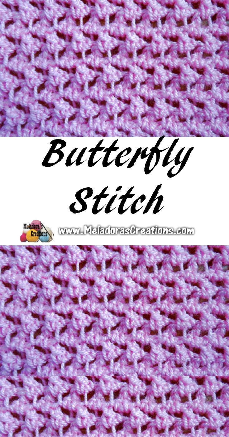 Meladora's Butterfly Stitch - Crochet Stitch - Free Crochet Pattern