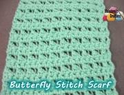 Butterfly Stitch Scarf - 600 WM