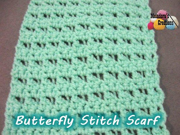 Meladora\'s Creations – Butterfly Stitch Scarf – Free Crochet Pattern