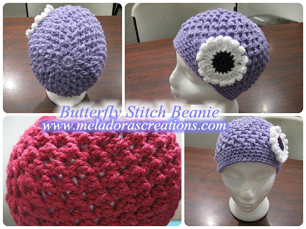 Butterfly stitch Beanie Combined