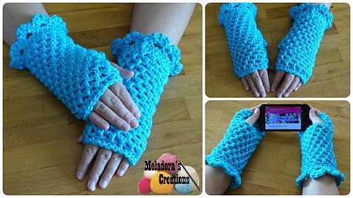 Butterfly Stitch Fingerless Gloves Free Crochet Pattern