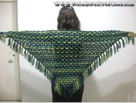 Crocodile Stitch Shawl - Free Crochet Pattern