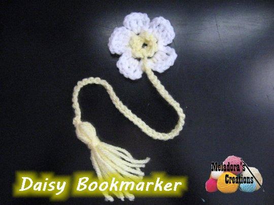 Daisy Book Marker Free Crochet Pattern