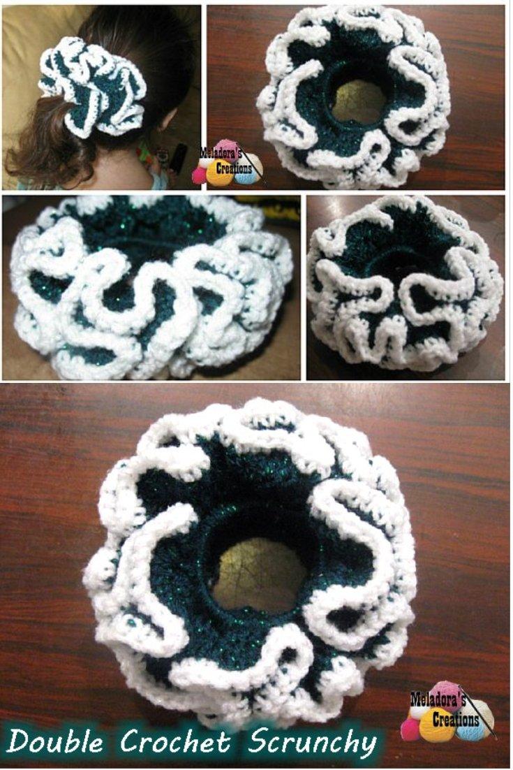 Double Crochet Scrunchie - Free Crochet Pattern