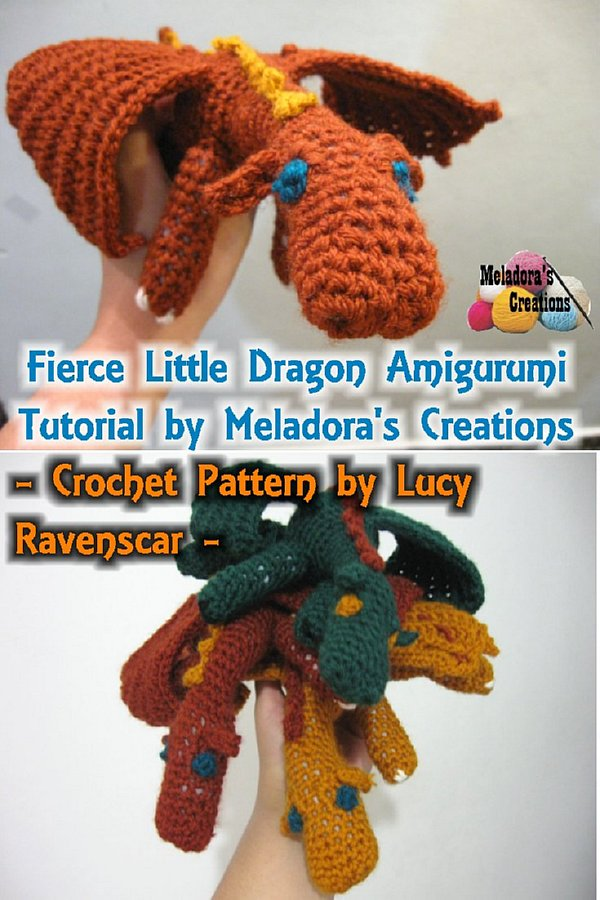 Amigurumi Fierce Dragon Free Crochet Pattern