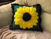 Finished Sunflower Pillow 1