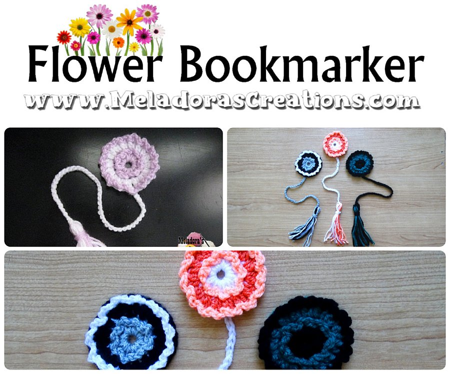 Crocheted Flower Bookmarker - Free Crochet Pattern