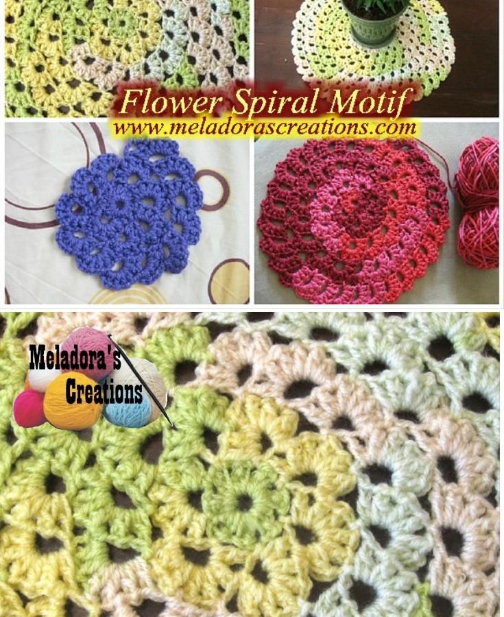 Flower Spiral Motif pinterest