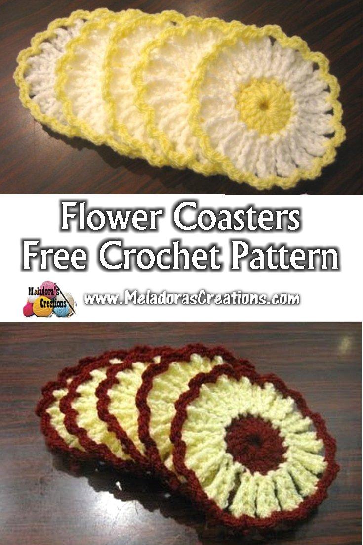 Flower Coasters - Free Crochet Pattern