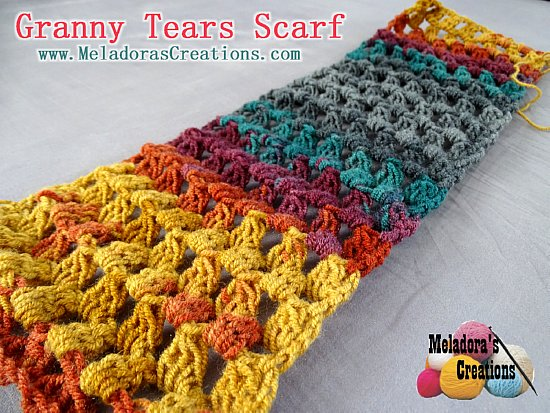 Granny tears scarf finished 550 wm
