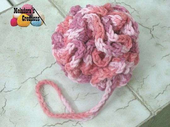 Crocheted Loofah Free Crochet Pattern Meladoras Creations