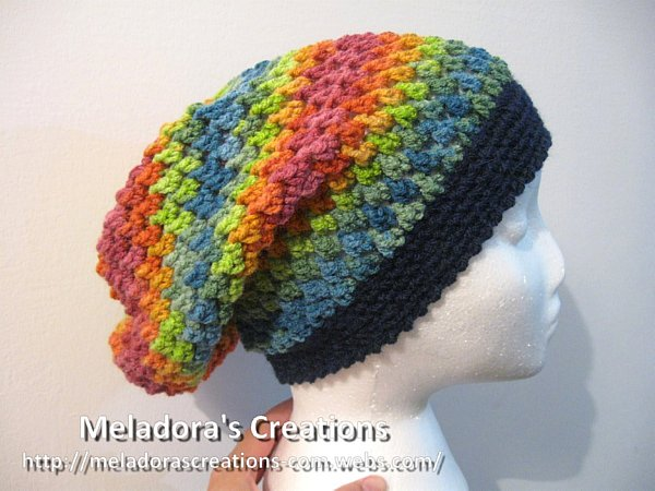 Meladoras Creations Butterfly Stitch Slouch Hat Free Crochet