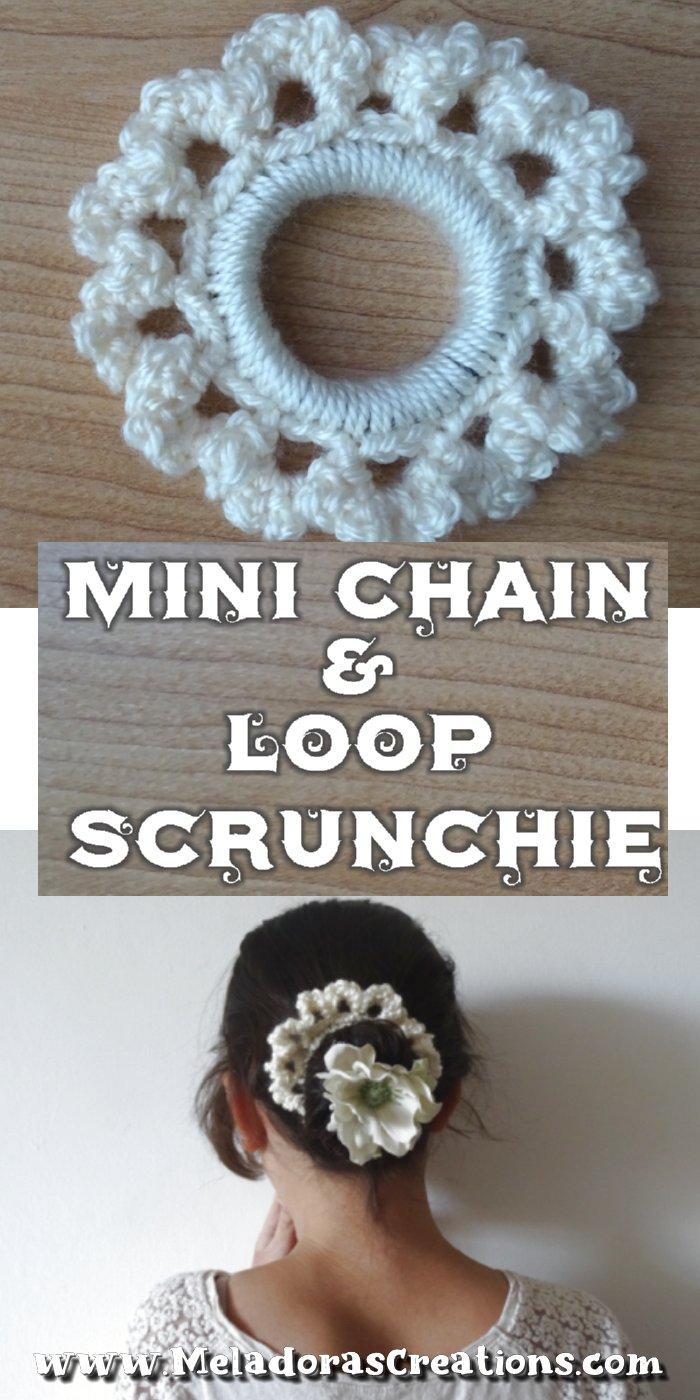 Mini Chain and Loop Scrunchie - Free Crochet Scrunchie Pattern