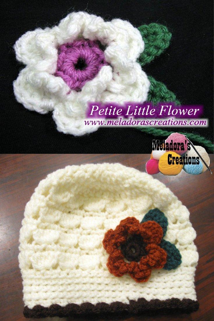 Petite Little Flower With Leaves Free Crochet Pattern
