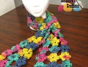 Puff flower scarf - 600 WM