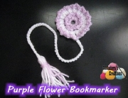 Purple Flower Book Marker 600 WM