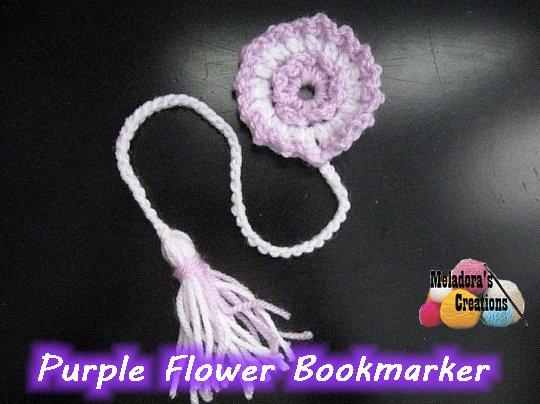 Flower Book Marker Free Crochet Pattern