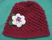 Raspberry Stitch Beanie child size 2