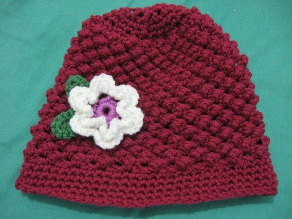 Raspberry Stitch Beanie child size 2