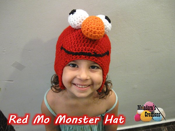 Red Mo Monster Hat Free Crochet Pattern