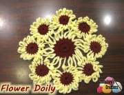 Red and Yellow Doily 600 WM