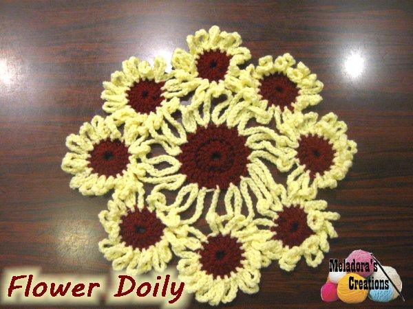Crochet Flower Doily Free Crochet Pattern