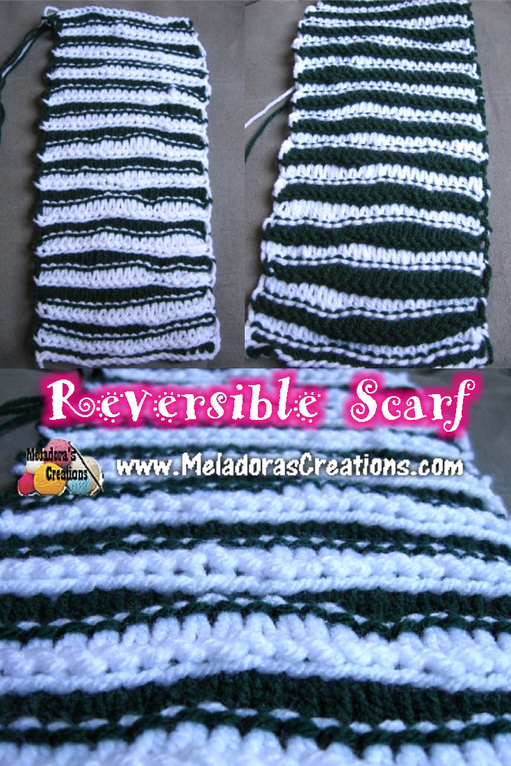 Meladora\'s Creations – Reversible Scarf – Free Crochet Pattern