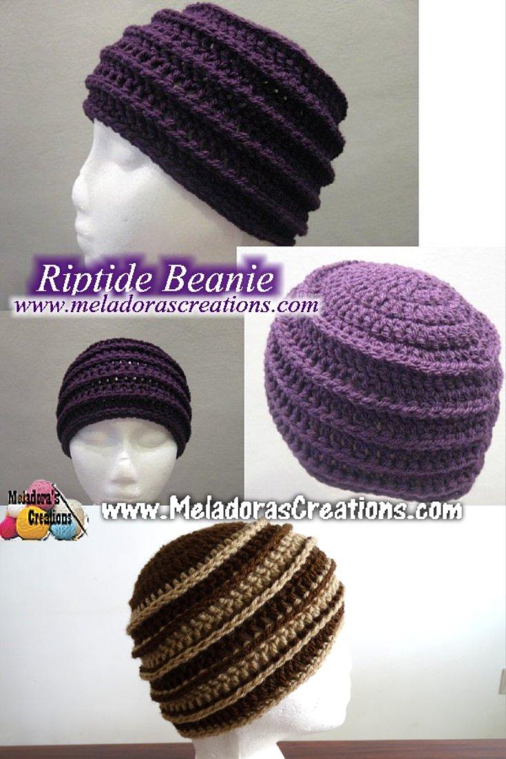 b191d11e4e3 Riptide Beanie - Free Crochet pattern - Meladora s Creations