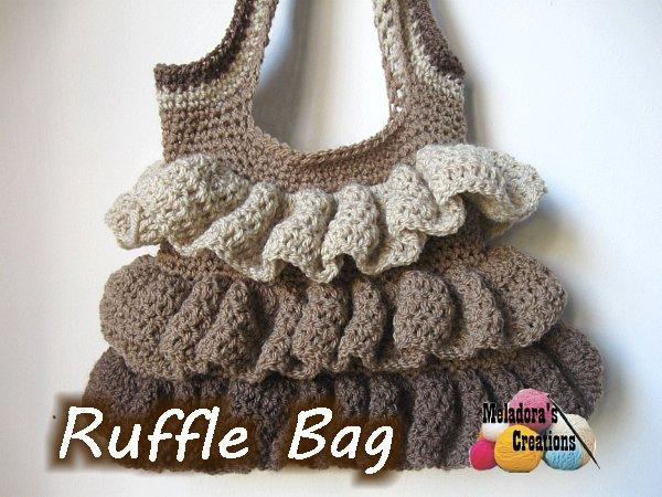 Ruffle Bag Free Crochet Pattern Meladoras Creations