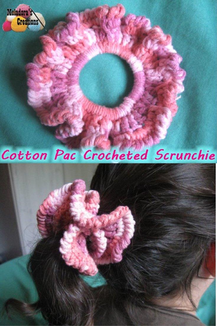 Cotton Pac Scrunchie - Free Crochet Pattern