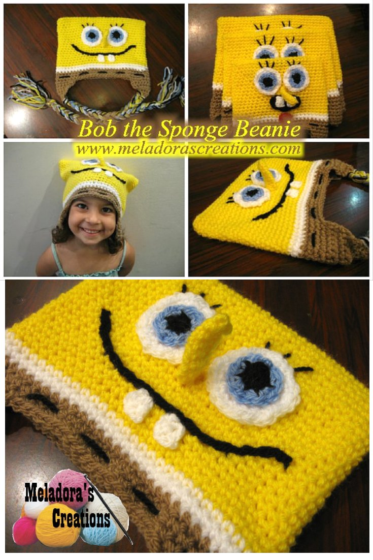 Meladora\'s Creations – Bob the Sponge Beanie – Free Crochet Pattern