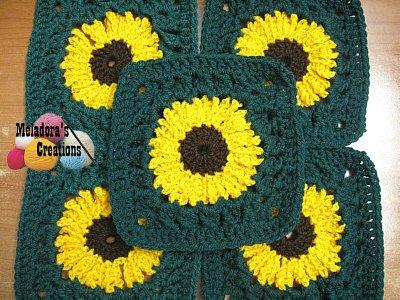 Sunflower Granny Square REDONE - 1