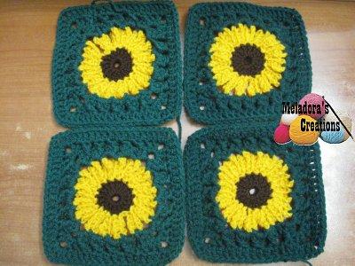Sunflower Granny Square REDONE - 4