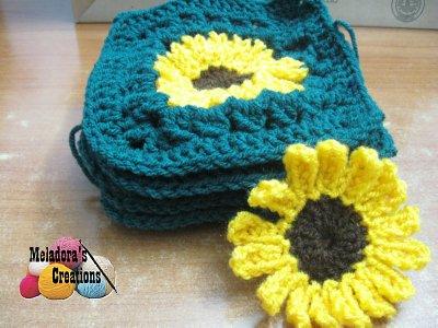 Sunflower Granny Square REDONE - 6