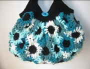 Teal Flower Purse