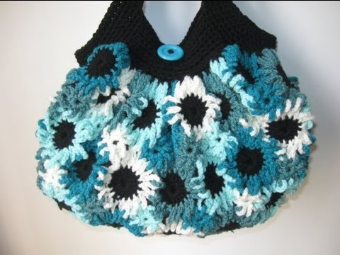 Flower Crochet Bag : Meladoras Creations Crochet Flower Purse - Free Crochet Pattern