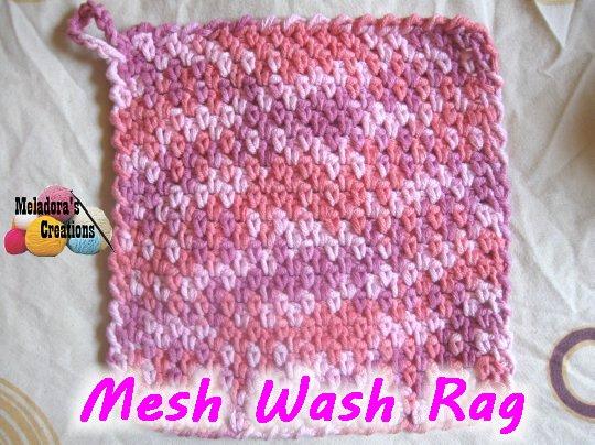 Mesh Wash Rag Free Crochet Pattern