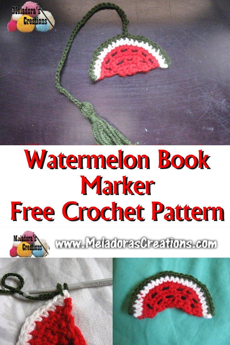 Watermelon Book Marker - Free Crochet Pattern