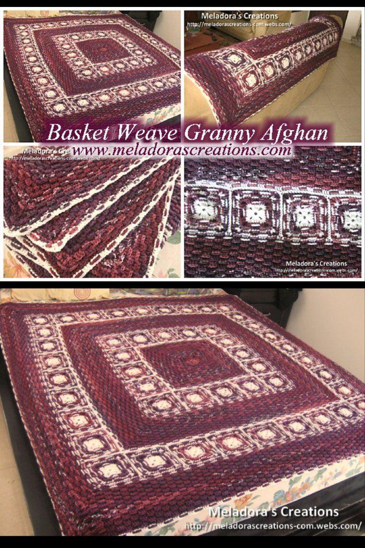 Basketweave Granny Afghan - Free Crochet Pattern