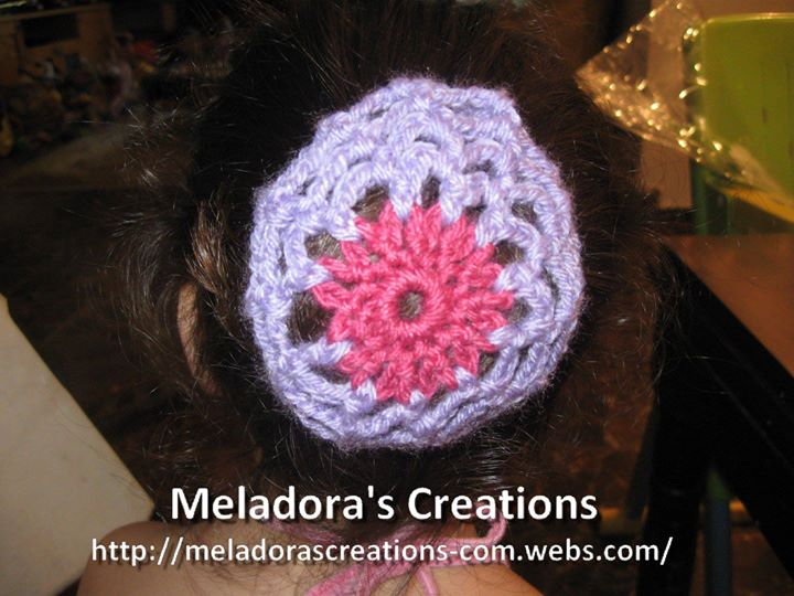 Crochet Hair Bun Cover : Crocheted Hair Bun Cover - Free Crochet Pattern