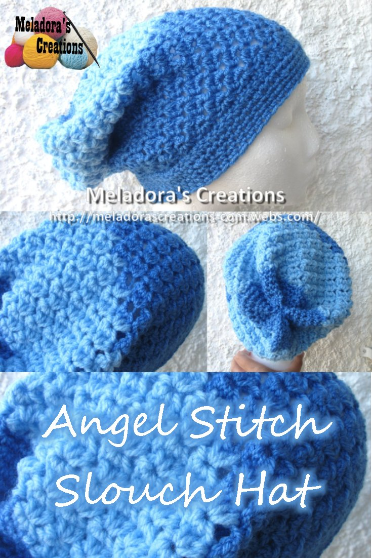 Angel Stitch Slouch Hat - Free Crochet Pattern and Tutorial