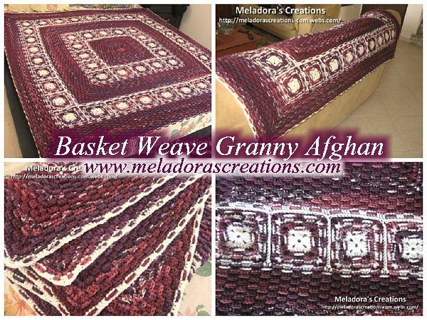 Basket Weave Granny Afghan Free Crochet Pattern
