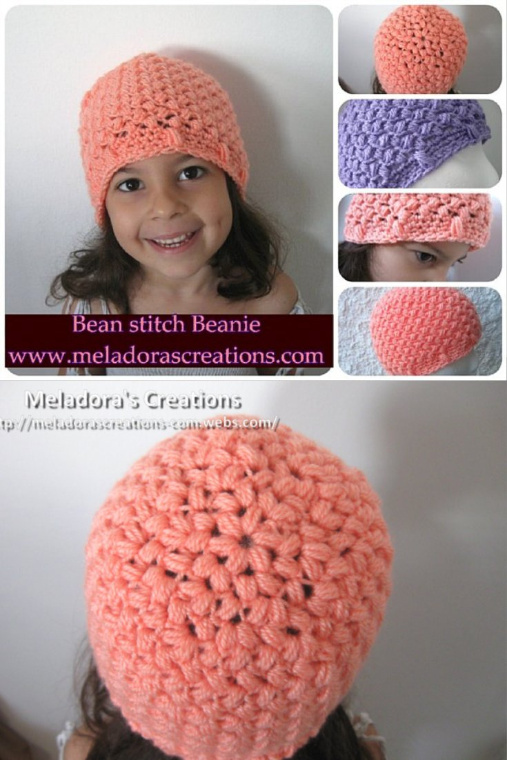 Bean Stitch Beanie - Free Crochet Pattern