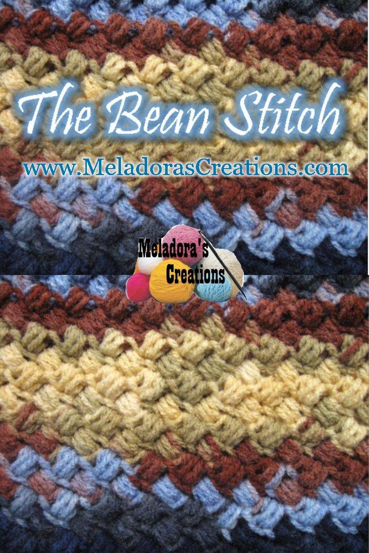 Bean Stitch - Crochet Stitch - Free crochet pattern