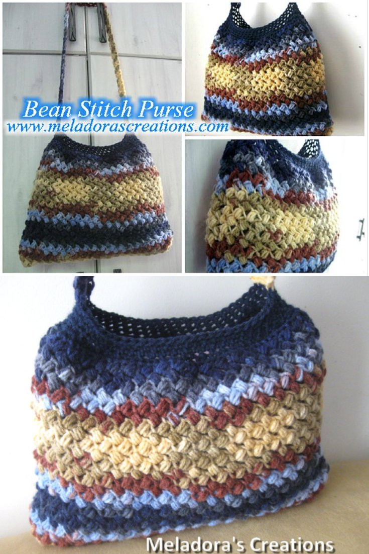 Meladoras Creations Bean Stitch Purse Free Crochet Pattern