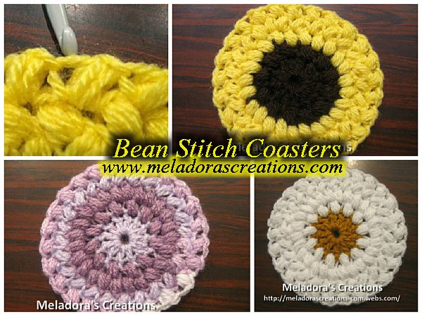 Bean Stitch Coasters - Free Crochet Pattern